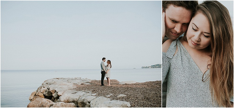 engagement session on the French Riviera