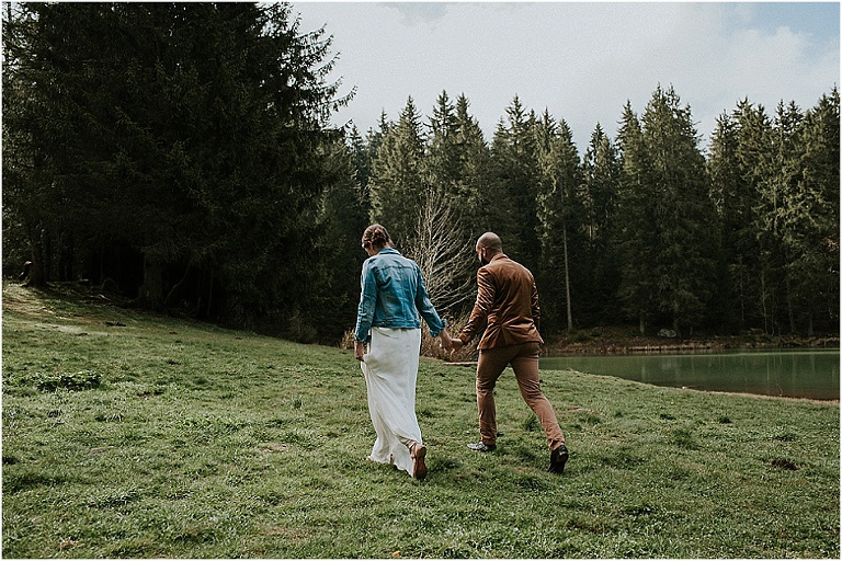 pre-wedding session in the french alps