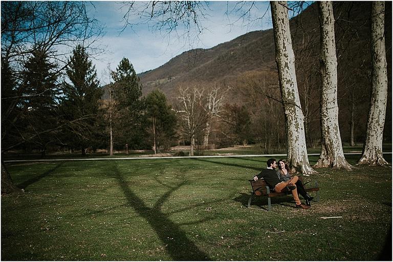 photos de couple au chateau de Vizille