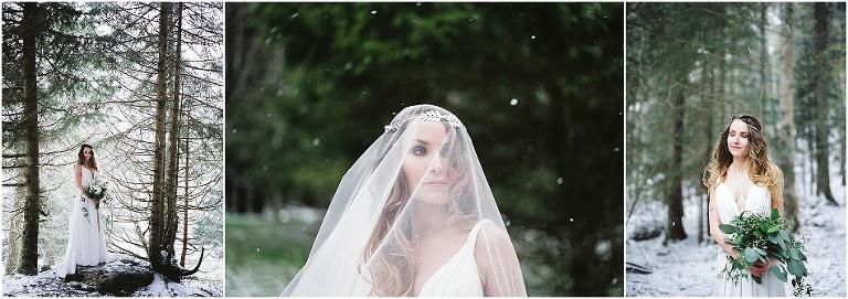 mariée dans la neige