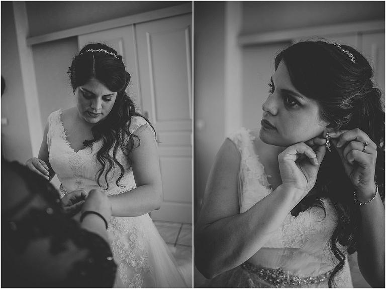 habillage de la mariée mariage au chateau de pupetières
