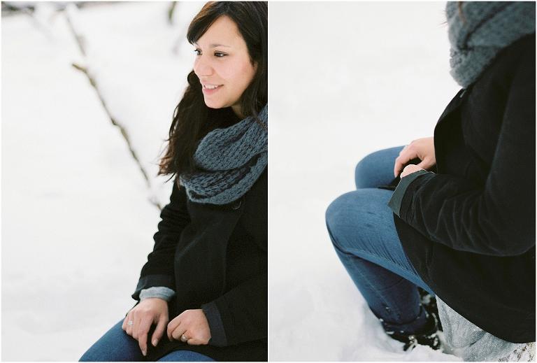 portraits dans la neige